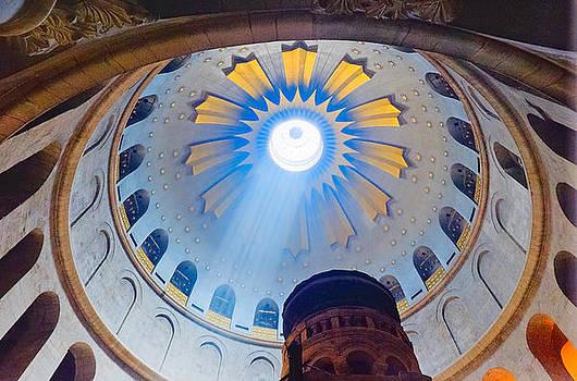 Jerusalem The Church of the Holy Sepulcher dome. by Eyal Nahmias