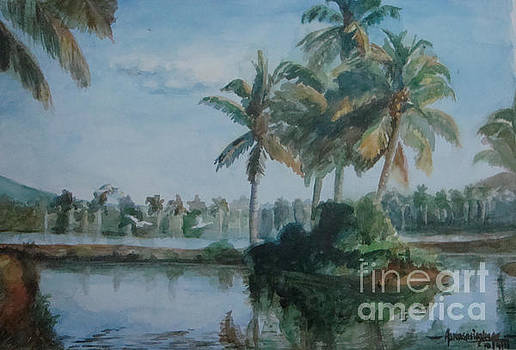 Kerala Landscape by Asha Sasikumar