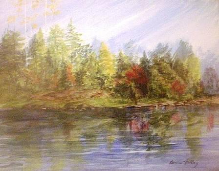 Lake Reflections by Bonnie Hallay
