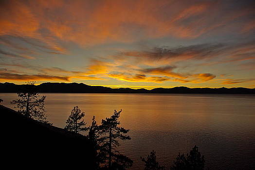 Lake Tahoe Sunset by Sally Hanrahan