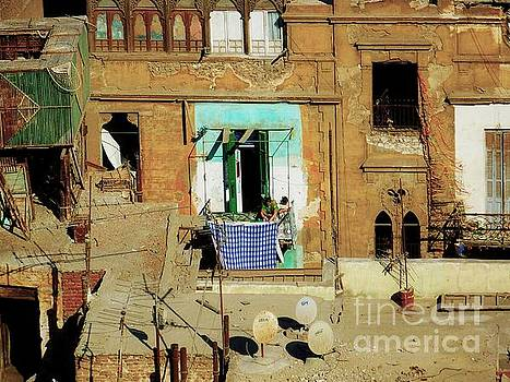 Laundry Day In The Cairo Slum by Elma Sulek