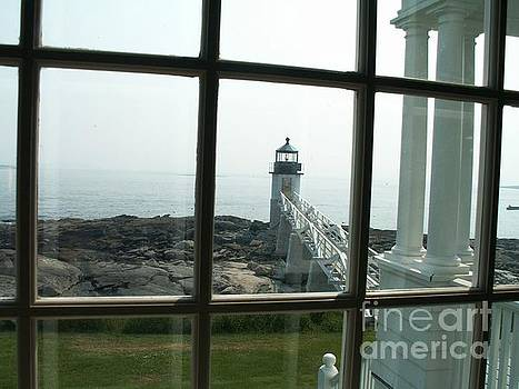 Lighthouse Window View by Theresa Willingham
