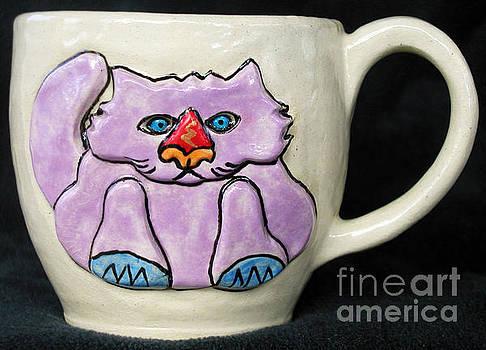 Lightning Nose Kitty Mug by Joyce Jackson