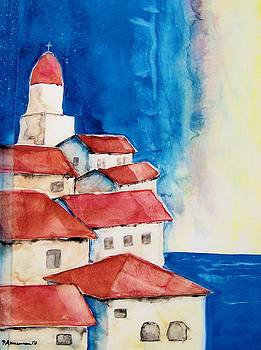 Ligurian Coaast by Regina Ammerman