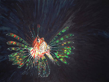Lionfish-Pterois by Donna Greenstein
