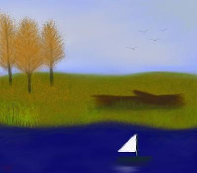 Little Sail Boat by Shelia Bull