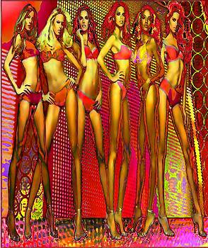 Long legged blonds and redheads by Rod Saavedra-Ferrere