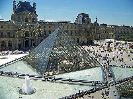 Lourve reflections by Maggie Cruser