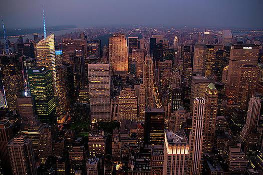 Manhattan At Dusk by Peter Verdnik