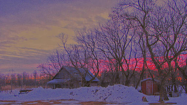 March Sunset In Wisconsin by Victoria Sheldon