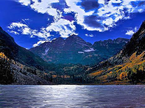 Maroon Bells Lake by Walt Jackson