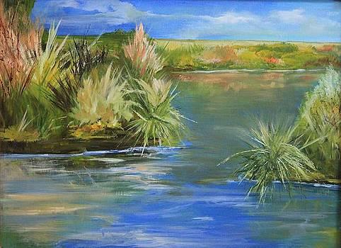 Marsh Panel 1 by Lisa Graves