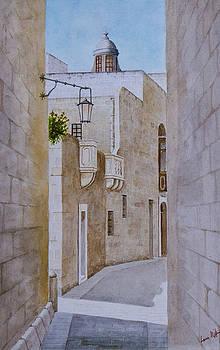 Mdina Street.  45 by Louis Mifsud
