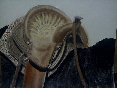 Mexican Roping Saddle by Don Hutchison