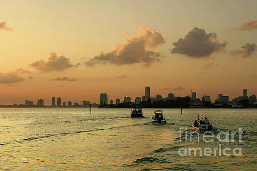 Miami and Biscayne Bay at Sunset by Matt Tilghman