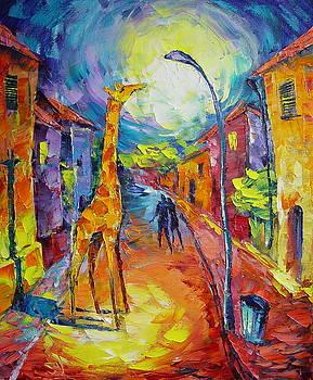 Midnight Giraffe by Avi Gorzhaltsan