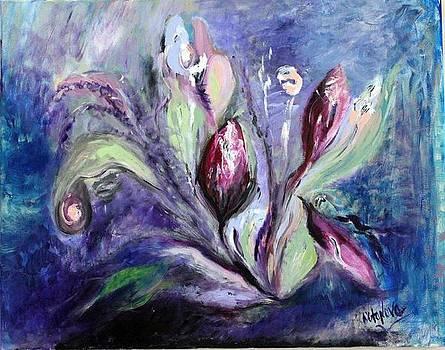 Moonlight Flowers by Nataliya Yutanova