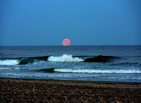 Moonrise Rexham Beach by Malcolm Lorente