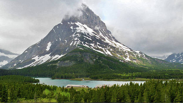 Mt Wilbur Swiftcurrent Lake Glacier National Park Larry Darnell by Larry Darnell