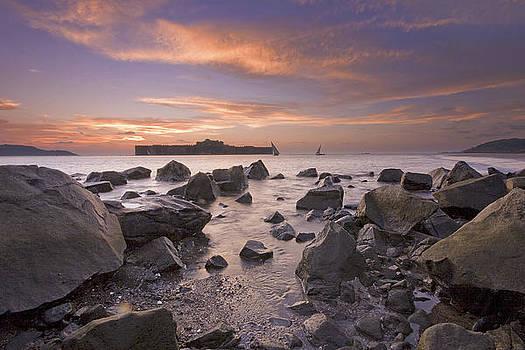Murud Jangira By Sunset by Sydney Alvares