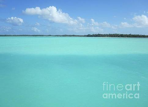 Myriad of Blue in Tahiti by Paul Jessop