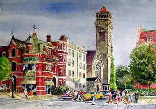 Newbury at Clarendon Boston by Harding Bush