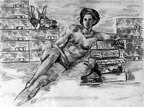 Nude with new skates by Ken Yackel