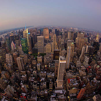 NYC At Dusk by Peter Verdnik