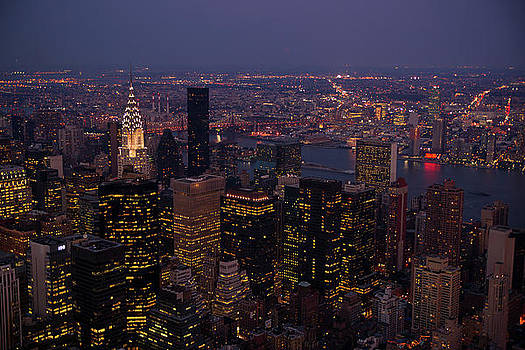 NYC By Night by Peter Verdnik