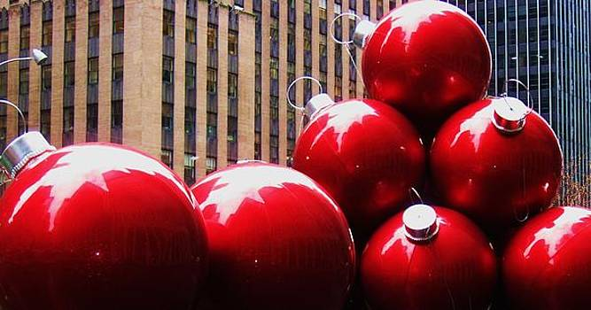 NYC Christmas Balls by Maria Scarfone
