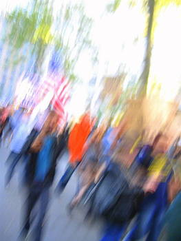 Occupy Wall Street Abstract by Maria Scarfone