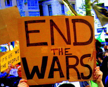 Occupy Wall Street End the Wars by Maria Scarfone