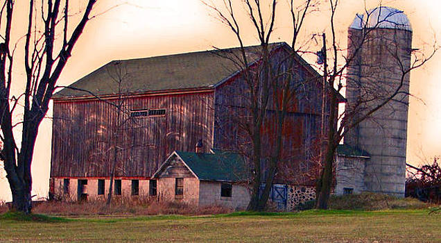 Old Barn On A Hill by Victoria Sheldon