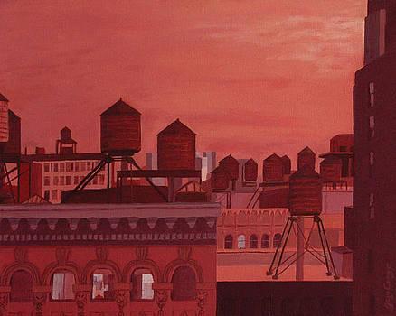 Orange Manhattan by Gary Conger