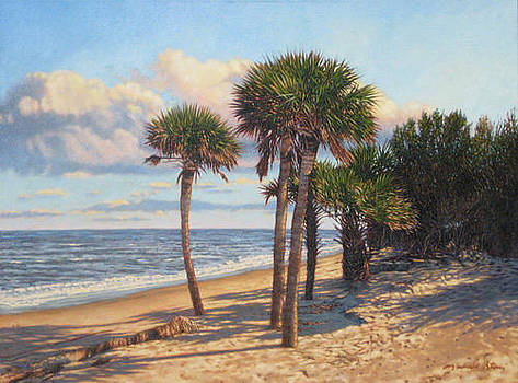 ORIGINAL Barrier Island Palms by Michael Story