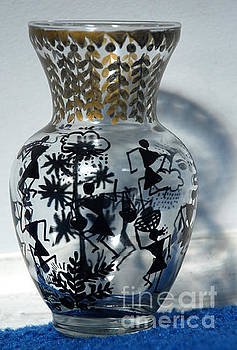 Original Glass vase tribal home decor by Subhash Limaye