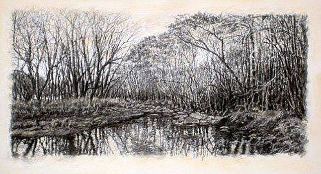 ORIGINAL Winter Thicket by Michael Story