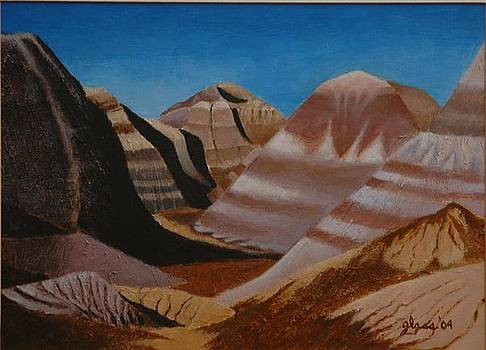 Painted Desert Arizona by Lester Glass