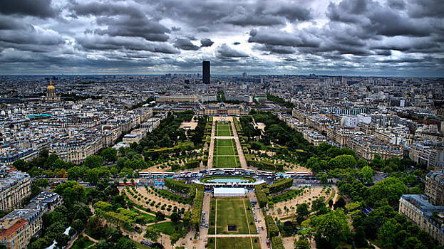 Paris from Above by Edward Myers