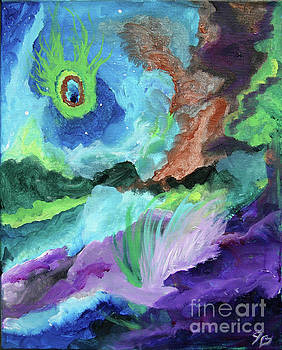 Peacock Abstract by Jamie Hartley