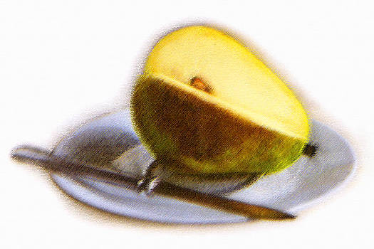 Pear and Knife by Rianna Stackhouse