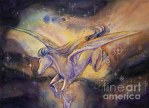 Pegasus with Nebula by Arwen De Lyon