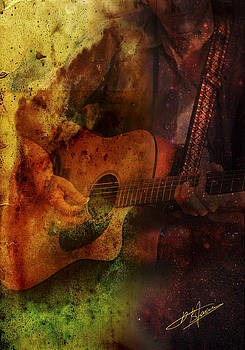Playing Guitar by Pavlos Vlachos