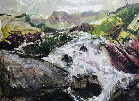 Plein air in Snowdonia by Harry Robertson