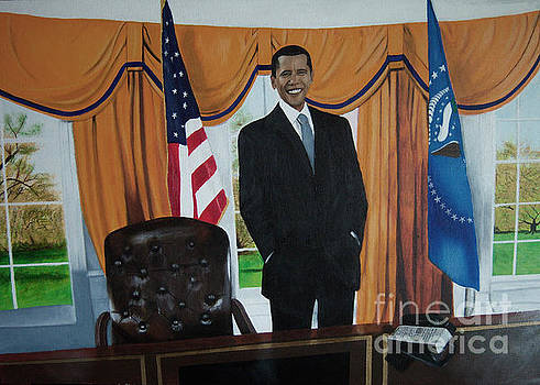 President Barack Obama by Chelle Brantley