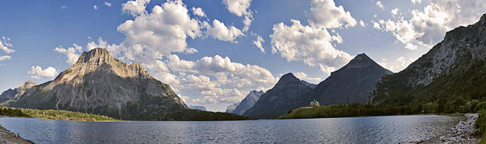 Prince of Wales Panorama Waterton National Park Canada Larry Dar by Larry Darnell