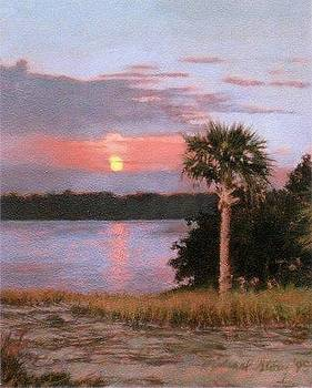 PRINT Sunset Over Bluffton by Michael Story
