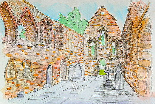 Priory at Beauly by Vic Delnore