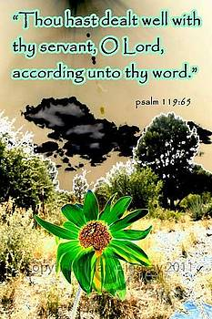 Psalm 119 verse 65 by Mary Lindsay