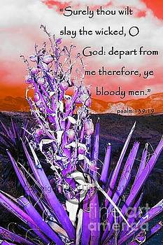 Psalm 139 verse 19 by Mary Lindsay